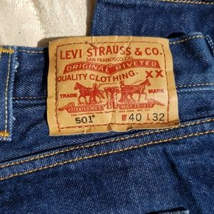 Levi's Jeans - Levi's 501 40x32 button fly high waist jeans